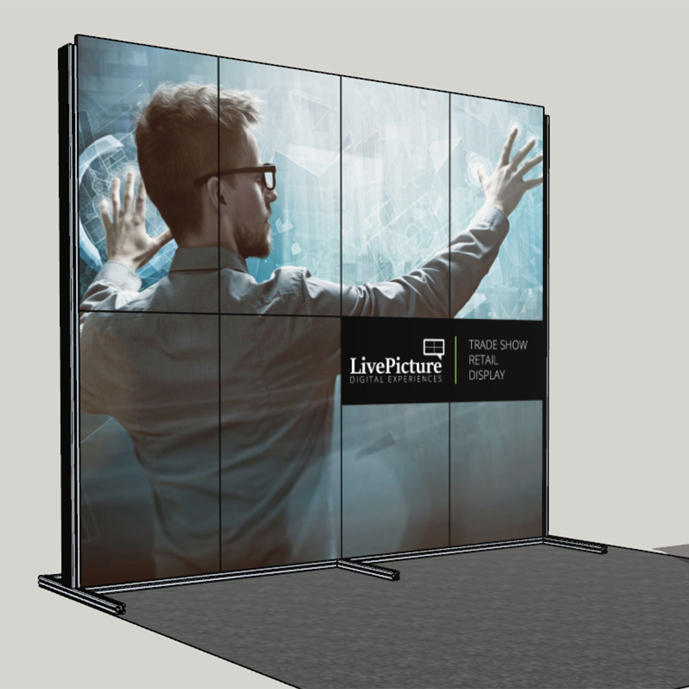 Trade Show Booth Banners : Digital trade show display lcd panel system