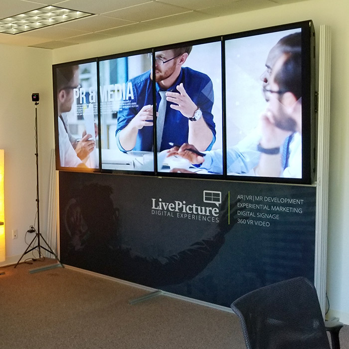 Samsung Commercial Displays >> Digital Trade Show Display | Change your graphics instantly!